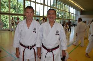 Conny Shihan och Yamada Shihan på internationellt träningsläger