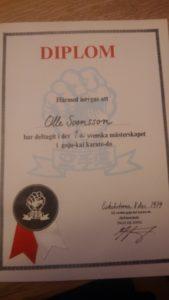 Diplom från Gojukai-mästerskapet 1979!