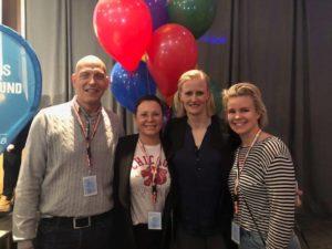 Per, Ellen och Alexandra träffar Carolina Kluft på utbildningsdag