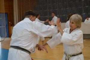 Yurii Sensei tränar med Marika Sensei.